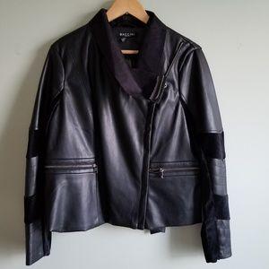 XL faux leather suede Lady's jacket soft EUC